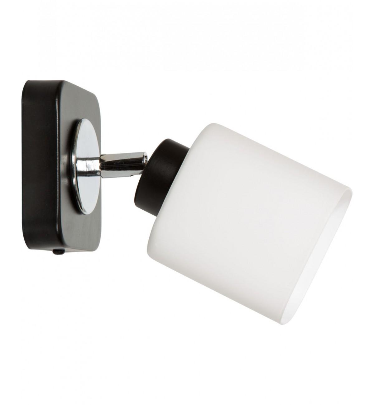 kinkiet seria 012 lampa wiszaca sufitowa nowoczesna czarny bialy Kinkiet Przegub Czarny Biały