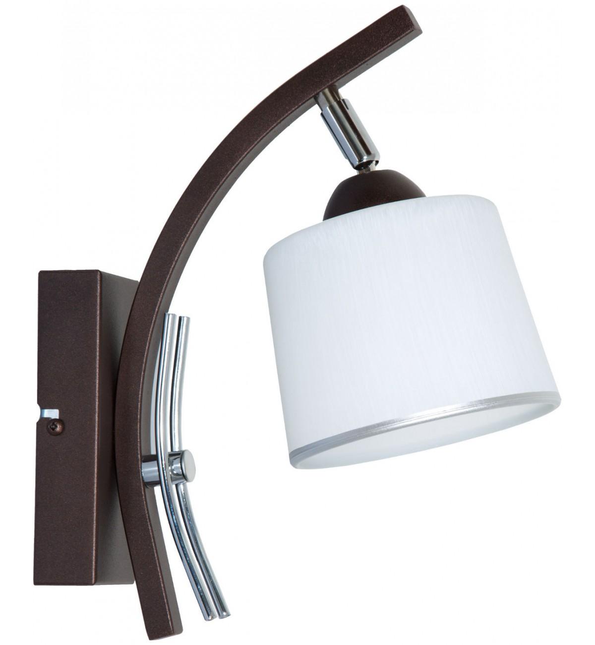 kinkiet z chromowanymi elementami z serii 07 lampa stylowa elegancka Kinkiety klasyczne