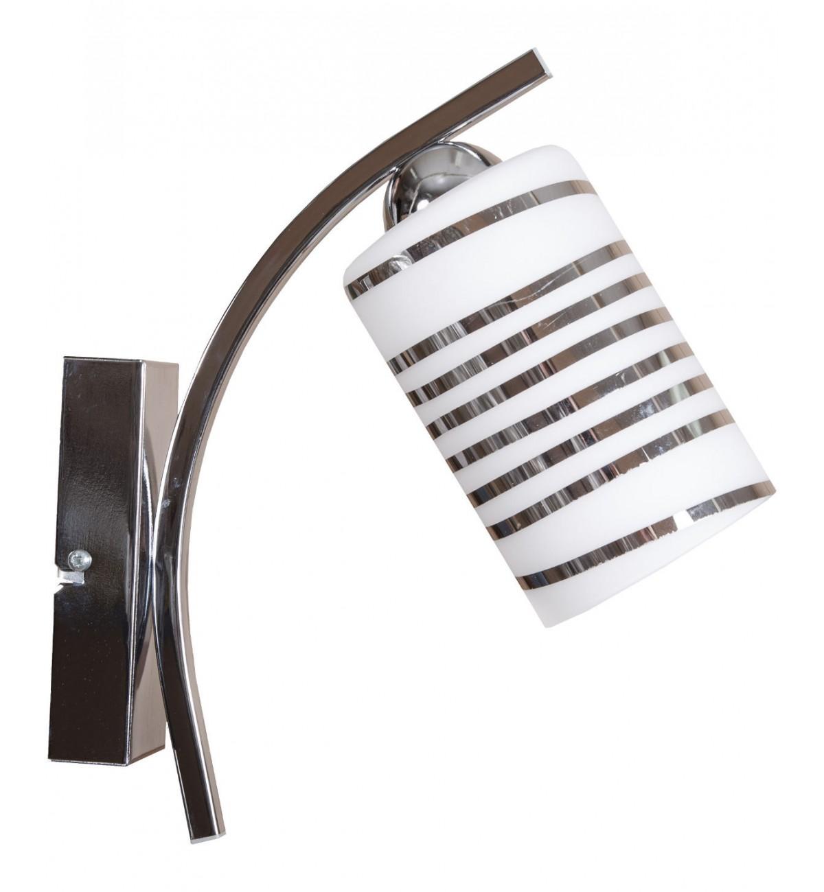 kinkiet z serii 05 chrom 1 plomienna elegancka stylowa Kinkiet Chrom ze Szklanym Kloszem
